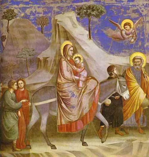 Realism Took The Backseat To Religious And Iconic Images Below Is An Example Of Such Flight Into Egypt Painted By Giotto Di Bondone