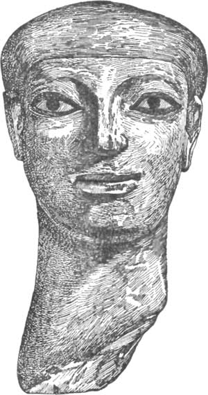 PAINTED HEAD FROM EDESSA